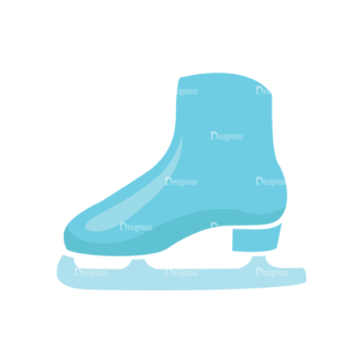 Universal Flat Icons Vector Set 2 Vector Ice Skate Clip Art - SVG & PNG vector
