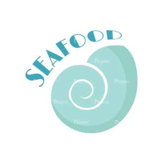 Universal Flat Icons Vector Set 2 Vector Seafood Clip Art - SVG & PNG vector