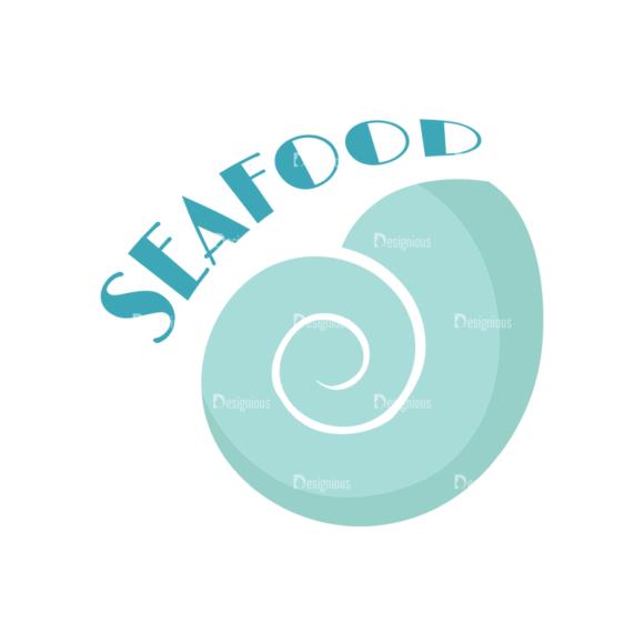 Universal Flat Icons Vector Set 2 Vector Seafood Clip Art - SVG & PNG vector