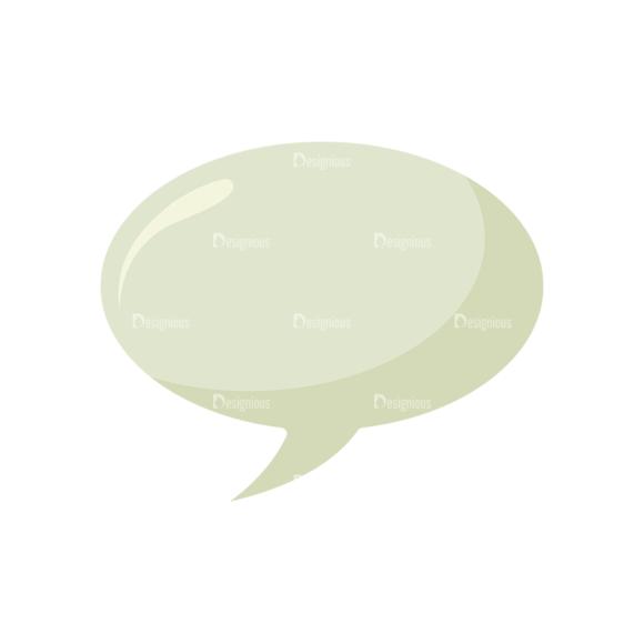 Universal Flat Icons Vector Set 2 Vector Speech Bubble Clip Art - SVG & PNG vector