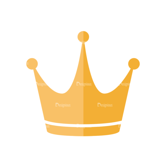 Universal Flat Icons Vector Set 3 Vector Crown Clip Art - SVG & PNG vector