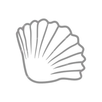 Vacation Emblems Vector Set 1 Vector Shell Clip Art - SVG & PNG shell