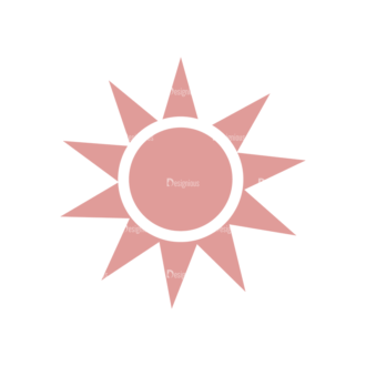 Vacation Emblems Vector Set 1 Vector Sun Clip Art - SVG & PNG vector