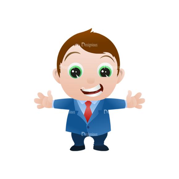 Vector Mascots Business Man Vector Business Man 06 Clip Art - SVG & PNG vector