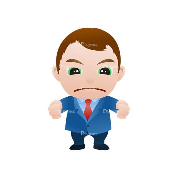 Vector Mascots Business Man Vector Business Man 09 Clip Art - SVG & PNG vector