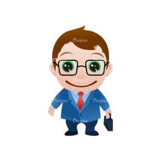 Vector Mascots Business Man Vector Business Man 12 Clip Art - SVG & PNG vector