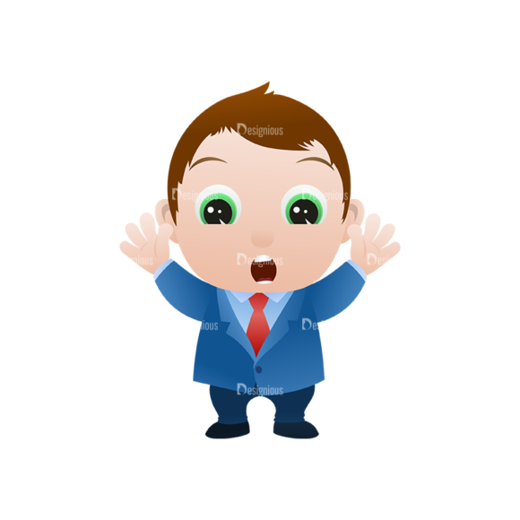 Vector Mascots Business Man Vector Business Man 13 Clip Art - SVG & PNG vector