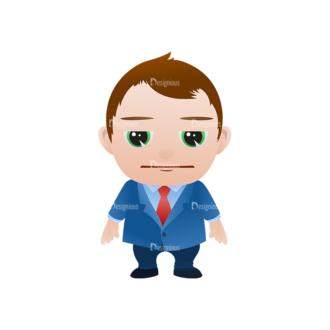 Vector Mascots Business Man Vector Business Man 14 Clip Art - SVG & PNG vector