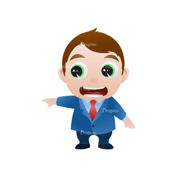 Vector Mascots Business Man Vector Business Man 15 Clip Art - SVG & PNG vector