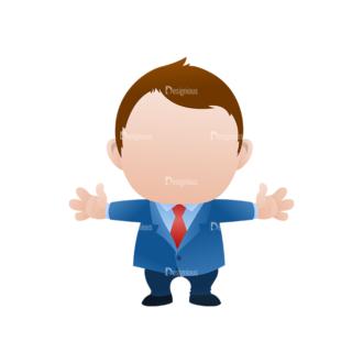 Vector Mascots Business Man Vector Business Man 23 Clip Art - SVG & PNG vector