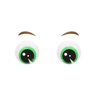 Vector Mascots Business Man Vector Eyes 55 Clip Art - SVG & PNG vector