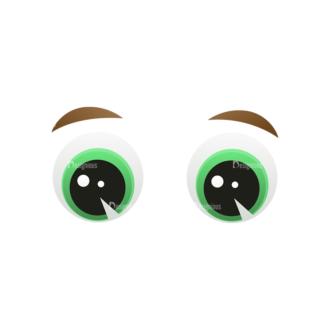 Vector Mascots Business Man Vector Eyes 56 Clip Art - SVG & PNG vector