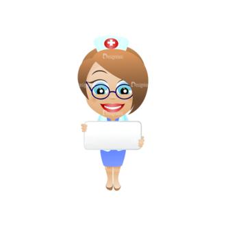Vector Mascots Nurse Vector 23 Clip Art - SVG & PNG vector