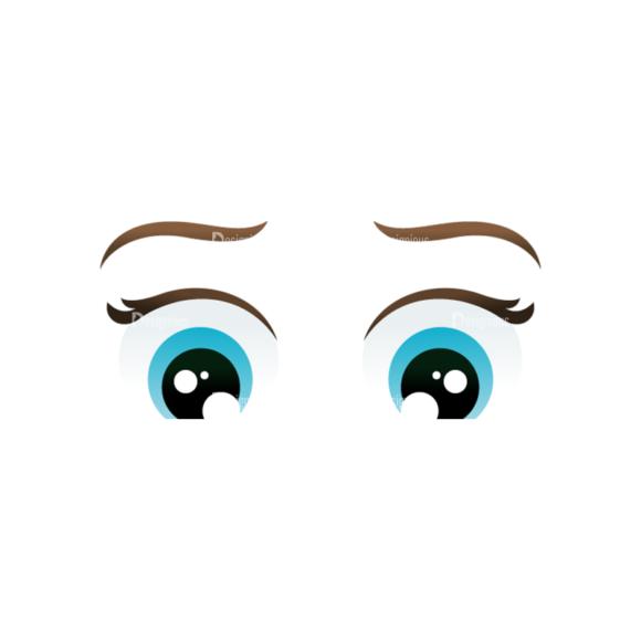 Vector Mascots Nurse Vector Eyes 72 Clip Art - SVG & PNG vector