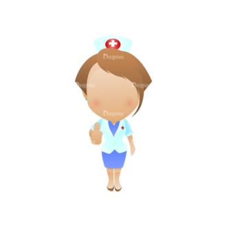 Vector Mascots Nurse Vector Nurse 25 Clip Art - SVG & PNG vector