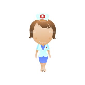 Vector Mascots Nurse Vector Nurse 26 Clip Art - SVG & PNG vector
