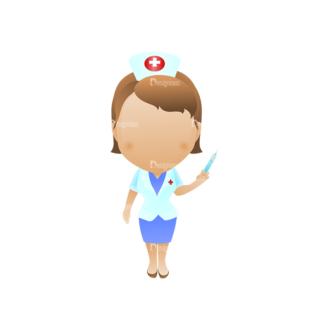 Vector Mascots Nurse Vector Nurse 30 Clip Art - SVG & PNG vector