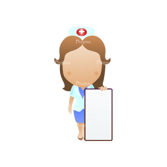 Vector Mascots Nurse Vector Nurse 33 Clip Art - SVG & PNG vector