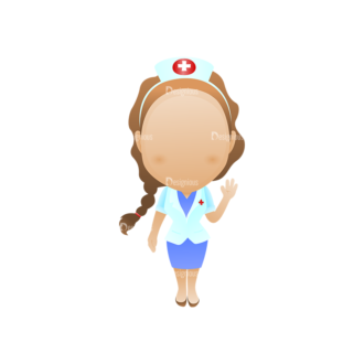Vector Mascots Nurse Vector Nurse 37 Clip Art - SVG & PNG vector