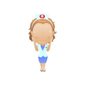Vector Mascots Nurse Vector Nurse 39 Clip Art - SVG & PNG vector
