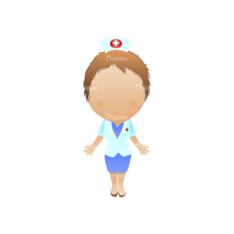 Vector Mascots Nurse Vector Nurse 41 Clip Art - SVG & PNG vector