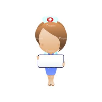 Vector Mascots Nurse Vector Nurse 44 Clip Art - SVG & PNG vector