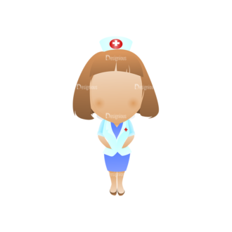 Vector Mascots Nurse Vector Nurse 45 Clip Art - SVG & PNG vector
