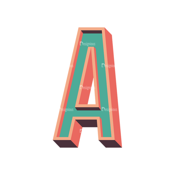 Vector Retro Alphabet Vector A Clip Art - SVG & PNG vector