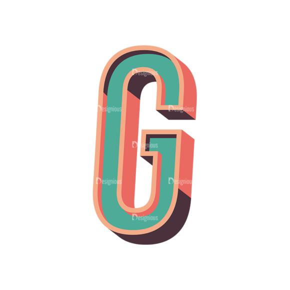 Vector Retro Alphabet Vector G vector retro alphabet vector G
