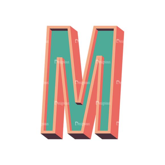 Vector Retro Alphabet Vector M vector retro alphabet vector M