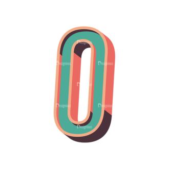 Vector Retro Alphabet Vector O Clip Art - SVG & PNG vector