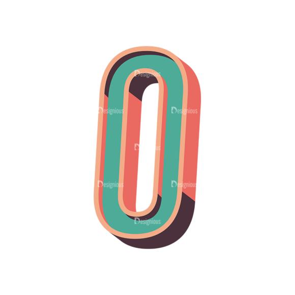 Vector Retro Alphabet Vector O vector retro alphabet vector O