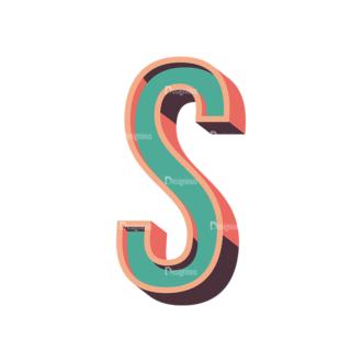 Vector Retro Alphabet Vector S Clip Art - SVG & PNG vector
