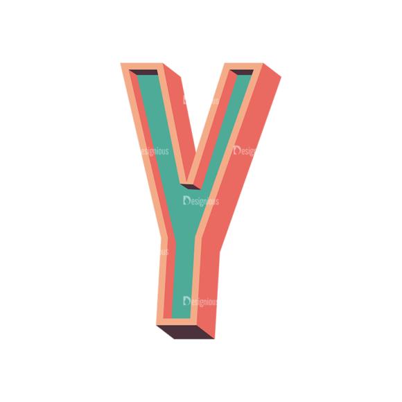 Vector Retro Alphabet Vector Y Clip Art - SVG & PNG vector