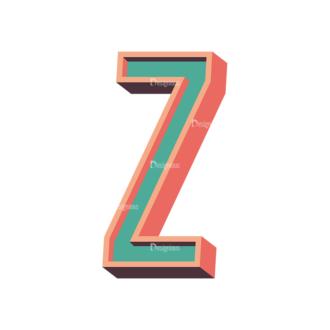 Vector Retro Alphabet Vector Z Clip Art - SVG & PNG vector