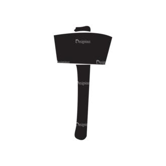 Viking War Gear Vector Hammer Clip Art - SVG & PNG vector