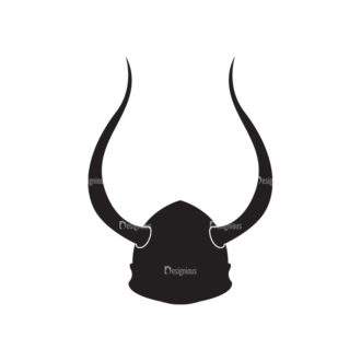 Viking War Gear Vector Helmet 04 Clip Art - SVG & PNG vector