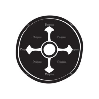 Viking War Gear Vector Shield Clip Art - SVG & PNG vector