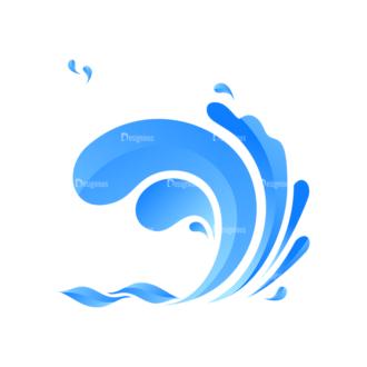 Waves Vector Set 1 Vector Wave 02 Clip Art - SVG & PNG wave