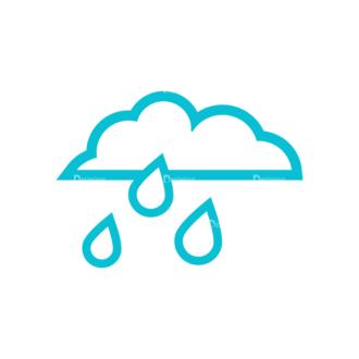 Weather Icon Set Vector Set 2 Vector Rainy Clip Art - SVG & PNG vector
