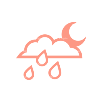 Weather Icon Set Vector Set 2 Vector Weather 07 Clip Art - SVG & PNG vector