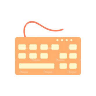 Web Developer Vector Keyboard Clip Art - SVG & PNG vector
