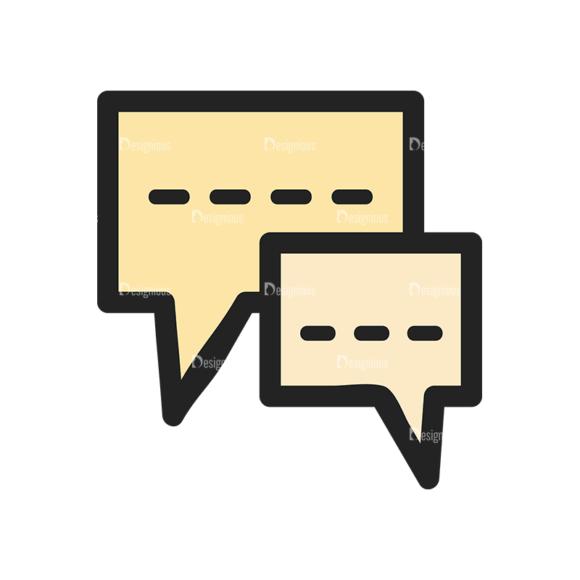 Website Design Doodle Vector Set 6 Vector Bubble Chat Clip Art - SVG & PNG vector