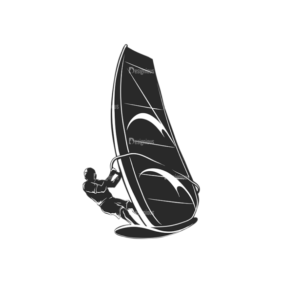 Wind Surfers Pack 2 10 Preview Clip Art - SVG & PNG vector