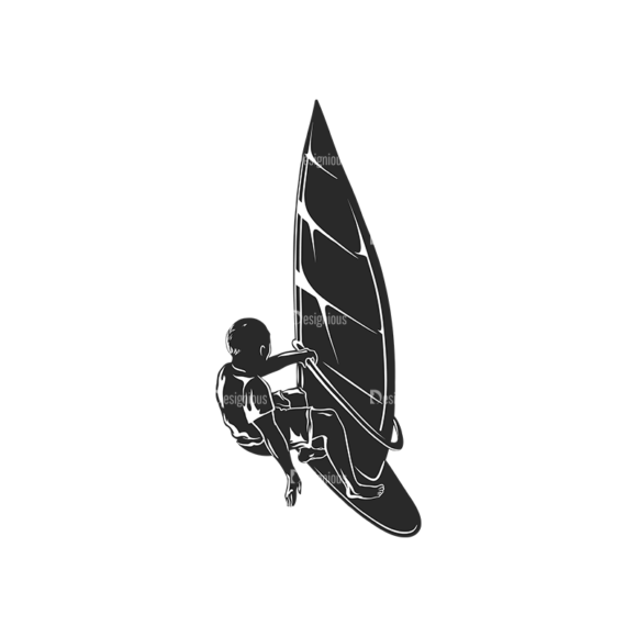 Wind Surfers Pack 2 4 Preview Clip Art - SVG & PNG vector