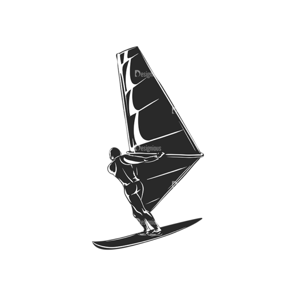 Wind Surfers Pack 2 5 Preview Clip Art - SVG & PNG vector