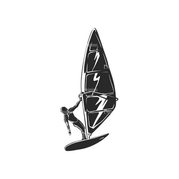 Wind Surfers Pack 2 6 Preview Clip Art - SVG & PNG vector