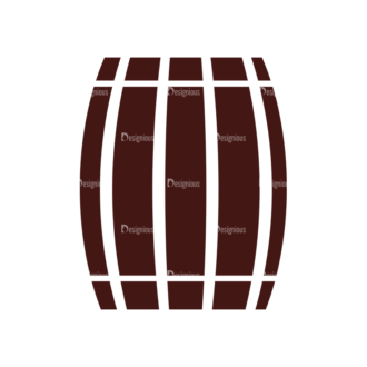 Wine Vector Elements Set 1 Vector Barrel Clip Art - SVG & PNG vector