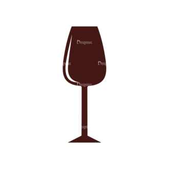 Wine Vector Elements Set 1 Vector Wine Glass Clip Art - SVG & PNG glass