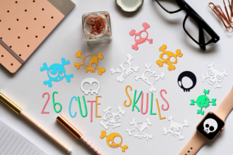 26 Cute Skulls SVG Cut Files Vector packs vector